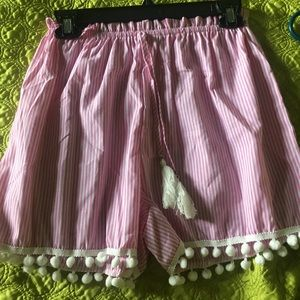 Pants - High waisted tie from shorts